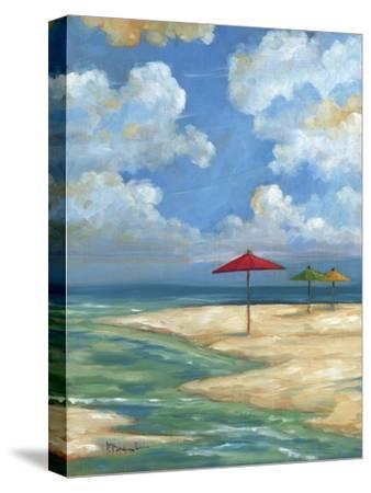 Umbrella Beachscape I-Paul Brent-Stretched Canvas Print