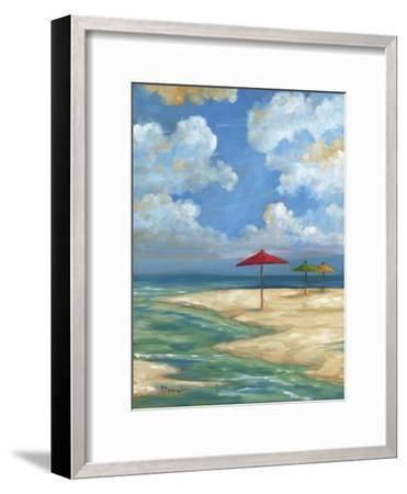 Umbrella Beachscape I-Paul Brent-Framed Art Print