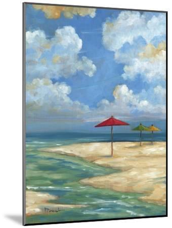 Umbrella Beachscape I-Paul Brent-Mounted Art Print