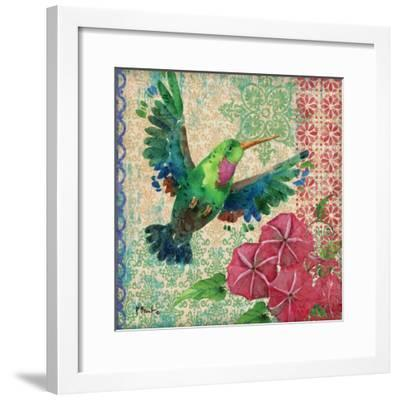 Zealous Hummingbird I-Paul Brent-Framed Art Print