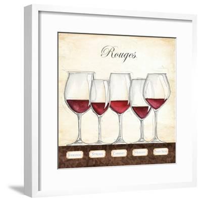 Les Vins Rouges-Andrea Laliberte-Framed Art Print