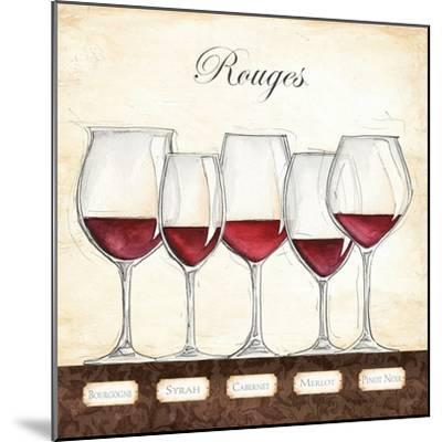 Les Vins Rouges-Andrea Laliberte-Mounted Art Print