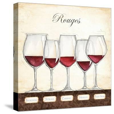 Les Vins Rouges-Andrea Laliberte-Stretched Canvas Print