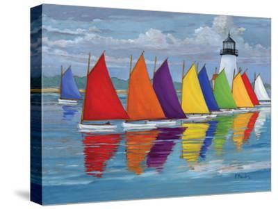 Rainbow Fleet-Paul Brent-Stretched Canvas Print