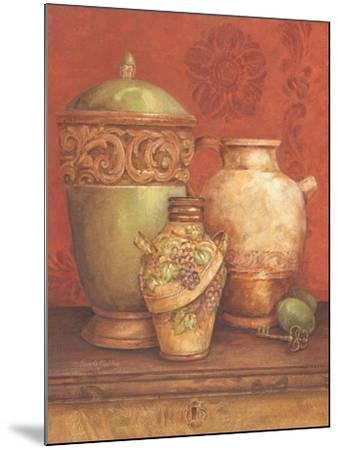 Tuscan Urns I-Pamela Gladding-Mounted Art Print