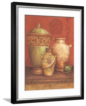 Tuscan Urns I-Pamela Gladding-Framed Art Print