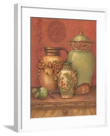 Tuscan Urns II-Pamela Gladding-Framed Art Print