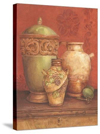 Tuscan Urns I-Pamela Gladding-Stretched Canvas Print