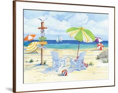 Beachside Chairs-Paul Brent-Framed Art Print