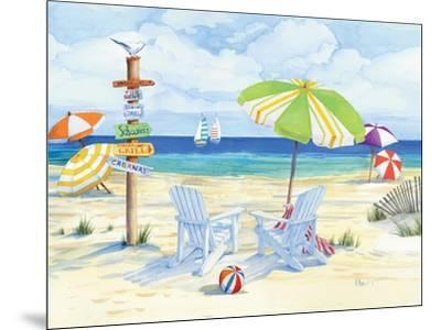 Beachside Chairs-Paul Brent-Mounted Art Print