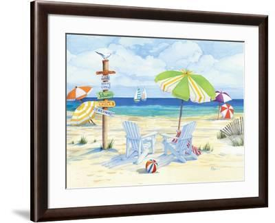Beachside Chairs-Paul Brent-Framed Premium Giclee Print