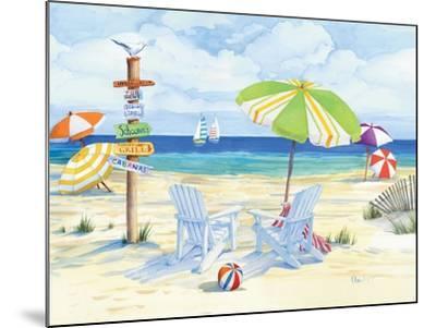 Beachside Chairs-Paul Brent-Mounted Premium Giclee Print