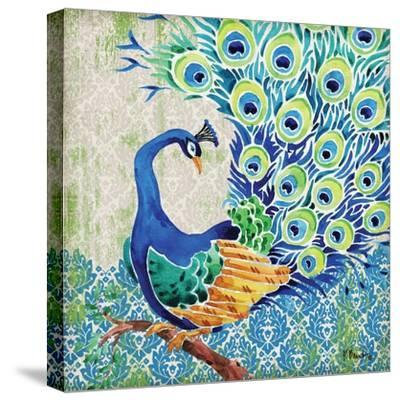 Patterned Peacock II-Paul Brent-Stretched Canvas Print