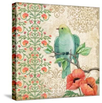 Blossoming Birds Sq II-Paul Brent-Stretched Canvas Print