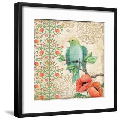 Blossoming Birds Sq II-Paul Brent-Framed Art Print