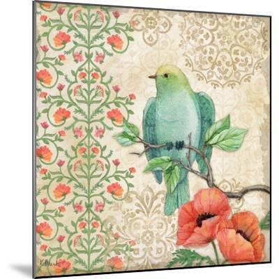 Blossoming Birds Sq II-Paul Brent-Mounted Art Print