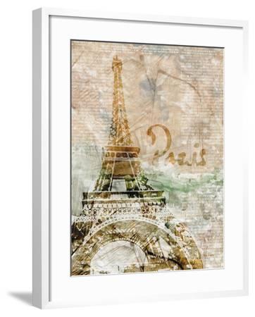 Sepia Paris-LuAnn Roberto-Framed Art Print