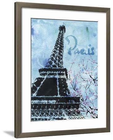 Blue Paris-LuAnn Roberto-Framed Art Print