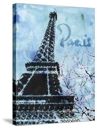 Blue Paris-LuAnn Roberto-Stretched Canvas Print
