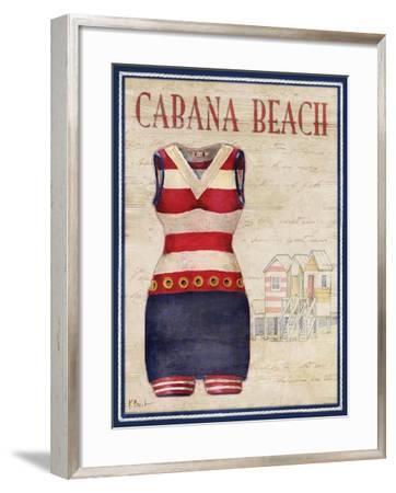 Cabana Beach-Paul Brent-Framed Art Print