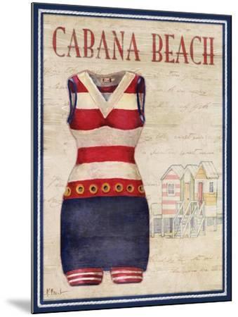 Cabana Beach-Paul Brent-Mounted Art Print