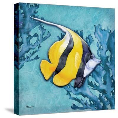 Azure Tropical Fish II-Paul Brent-Stretched Canvas Print