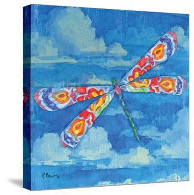 Wild Blue Dragonfly-Paul Brent-Stretched Canvas Print