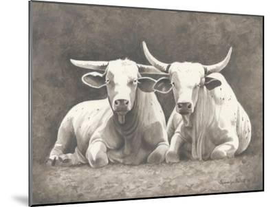 Two White Bulls-Gwendolyn Babbitt-Mounted Art Print