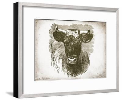 Cow Face I-Gwendolyn Babbitt-Framed Art Print