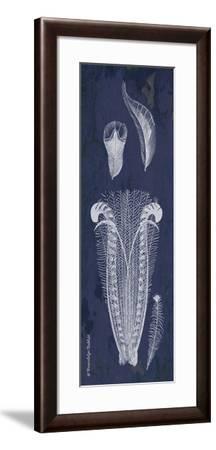Indigo Feathers I-Gwendolyn Babbitt-Framed Art Print