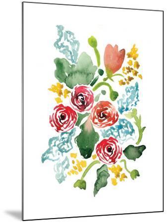 Red Floral Array II-Sara Berrenson-Mounted Art Print