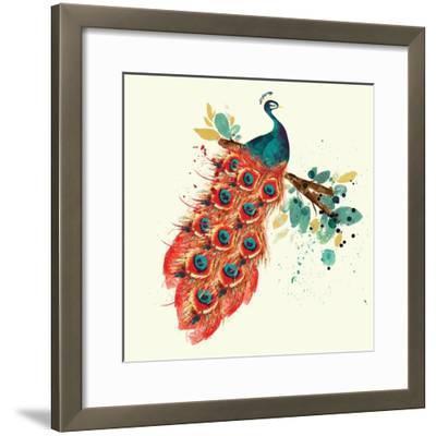 Peacock I-Sara Berrenson-Framed Art Print