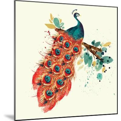 Peacock I-Sara Berrenson-Mounted Art Print