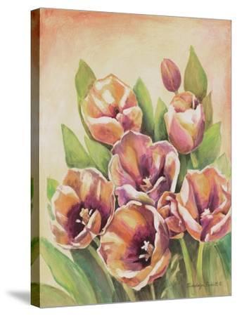 Purple Tulips II-Gwendolyn Babbitt-Stretched Canvas Print