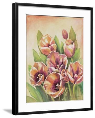 Purple Tulips II-Gwendolyn Babbitt-Framed Art Print
