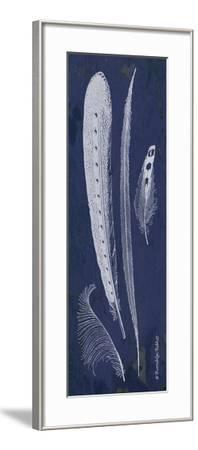 Indigo Feathers IV-Gwendolyn Babbitt-Framed Art Print