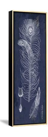 Indigo Feathers II-Gwendolyn Babbitt-Framed Stretched Canvas Print