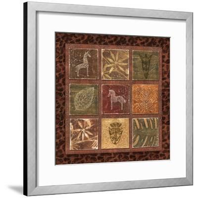 Tribal Collage I-Charlene Audrey-Framed Art Print