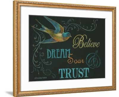 Believe & Bird-Gwendolyn Babbitt-Framed Art Print
