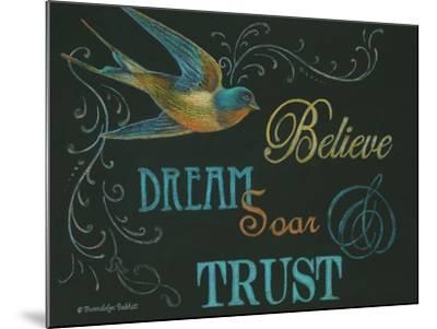 Believe & Bird-Gwendolyn Babbitt-Mounted Art Print