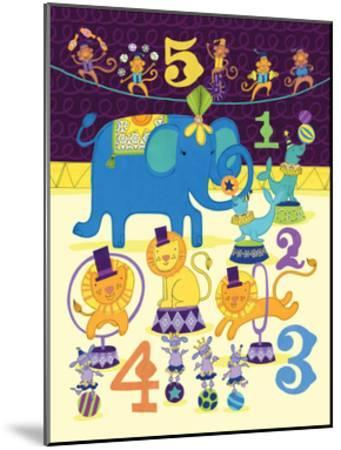 Circus Counting-Jane Smith-Mounted Art Print