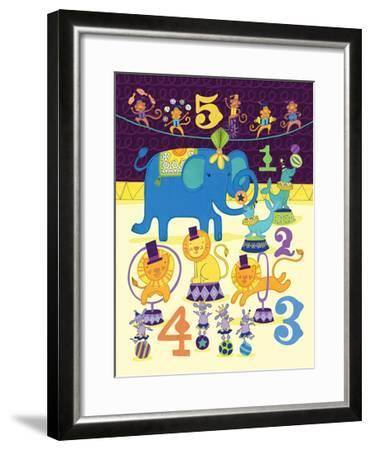 Circus Counting-Jane Smith-Framed Art Print