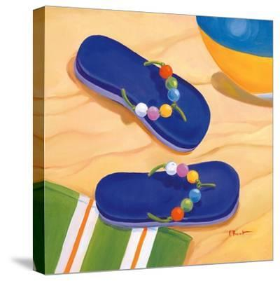 Purple Flip Flops-Paul Brent-Stretched Canvas Print