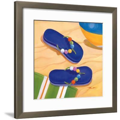 Purple Flip Flops-Paul Brent-Framed Art Print