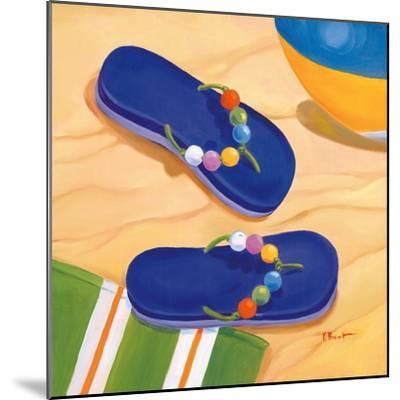 Purple Flip Flops-Paul Brent-Mounted Art Print