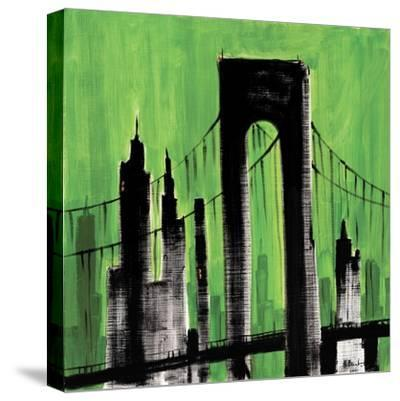 Green Cityscape-Paul Brent-Stretched Canvas Print