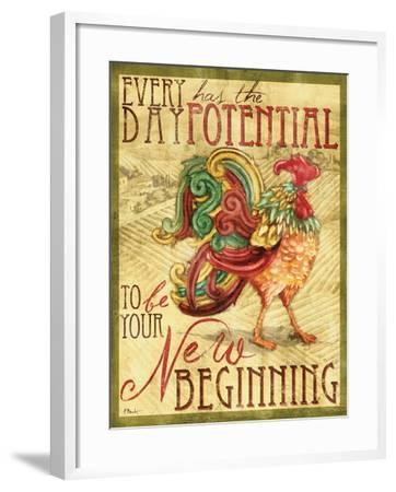 Daybreak Rooster I-Paul Brent-Framed Art Print