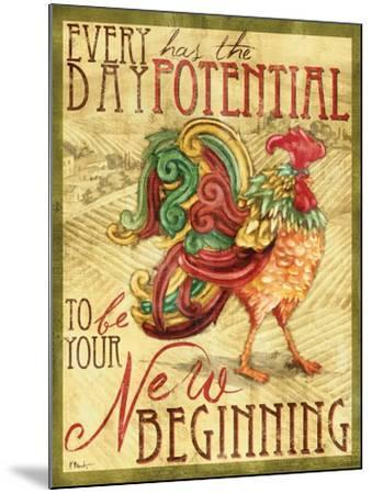 Daybreak Rooster I-Paul Brent-Mounted Art Print