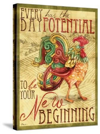 Daybreak Rooster I-Paul Brent-Stretched Canvas Print