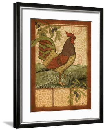 Tuscan Rooster II-Paul Brent-Framed Art Print